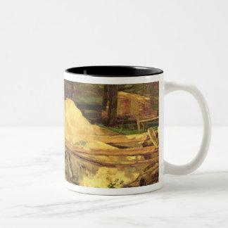 おがくずピット1876年 ツートーンマグカップ