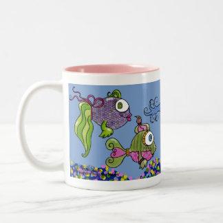 おしゃれした魚飼育用の水槽 ツートーンマグカップ