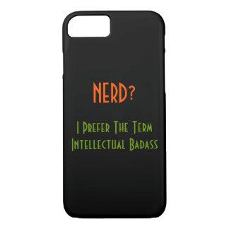 おたくか。 知的なBadass |のおもしろいなiPhoneの場合 iPhone 8/7ケース