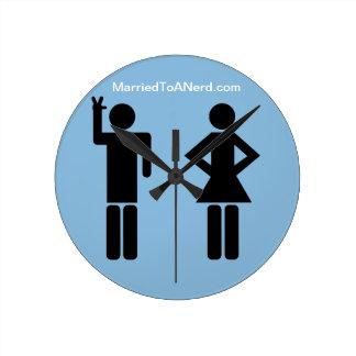 おたくに結婚した ラウンド壁時計