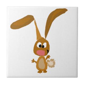 おっちょこちょいのでおもしろいなバニーウサギの芸術 タイル