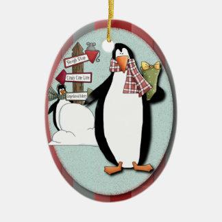 おっちょこちょいのなペンギンのオーナメント セラミックオーナメント