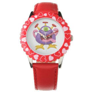おっちょこちょいのな紫色モンスター 腕時計