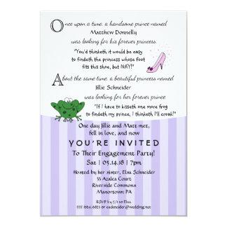 おとぎ話のおもしろいの婚約パーティ5x7の招待状 カード
