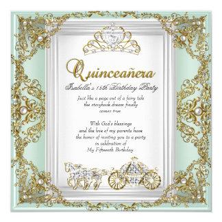 おとぎ話のキンセアニェラの第15誕生日の真新しい緑 カード