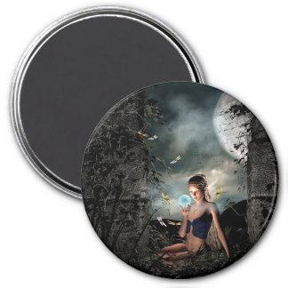 おとぎ話のクリスタル・ボールの満月のファンタジーの磁石 マグネット