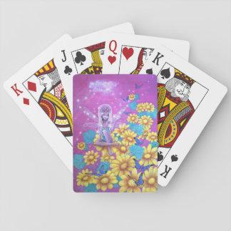 おとぎ話のピンクの妖精のゲームカード トランプ