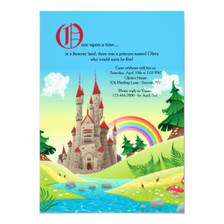 おとぎ話の城の招待状 カード