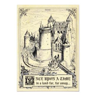 おとぎ話の物語の本の結婚式招待状 カード