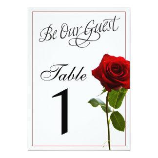 おとぎ話の結婚式のテーブル数 カード
