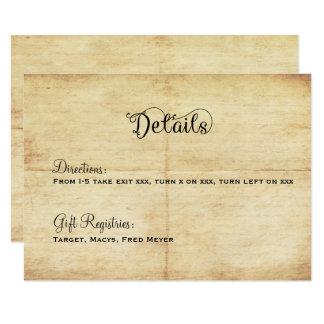 おとぎ話の結婚式の明細カード-昔々 カード