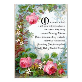 おとぎ話の結婚式の発表 カード