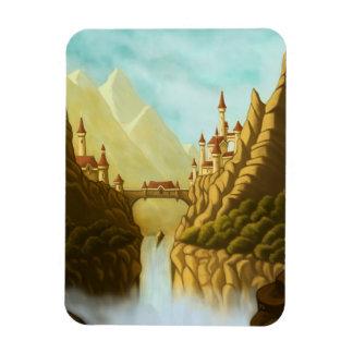 おとぎ話はファンタジーの景色の芸術の磁石を城郭で囲みます マグネット