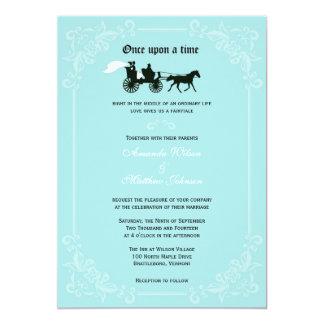 おとぎ話馬およびキャリッジ結婚式招待状 カード