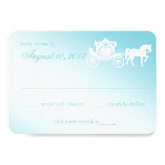 おとぎ話馬およびキャリッジ結婚式 カード