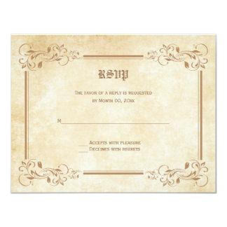 おとぎ話RSVPの応答カード カード