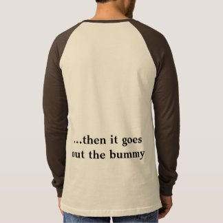 おなかでは、bummy tシャツ