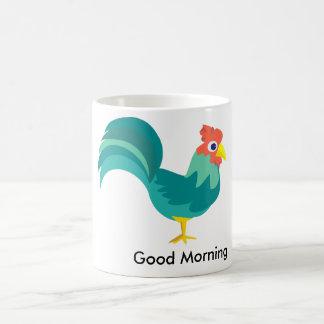 おはようのオンドリのコップ コーヒーマグカップ