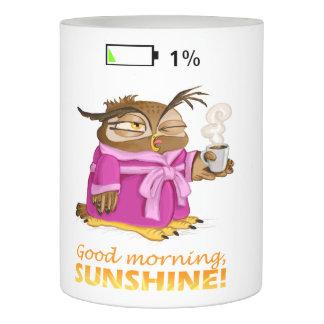おはようの日光のフクロウ LEDキャンドル