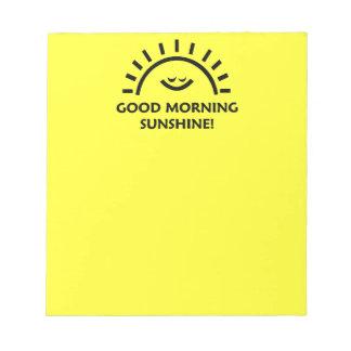 おはようの日光 ノートパッド