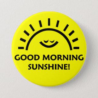 おはようの日光 7.6CM 丸型バッジ