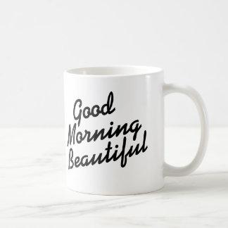 おはようの美しくロマンチックで感動的なマグ コーヒーマグカップ