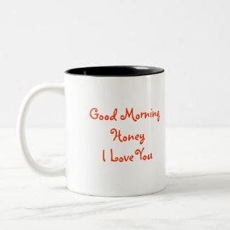 おはようの蜂蜜I愛ぶんぶんいう鳥PHとの ツートーンマグカップ