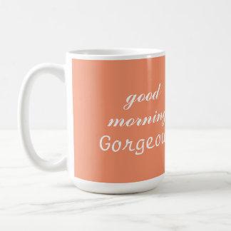 おはようの豪華なコーヒーカップのマグ コーヒーマグカップ