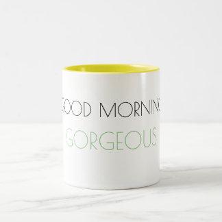 おはようの豪華なマグ ツートーンマグカップ