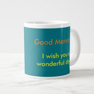 おはよう! ジャンボコーヒーマグカップ