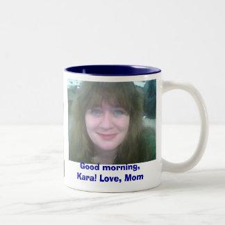 おはよう、Kara! 愛、お母さん ツートーンマグカップ