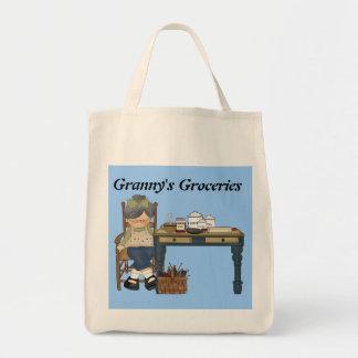 おばあさんの食料雑貨のトートバック トートバッグ