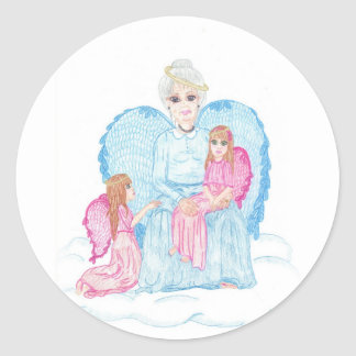 おばあさん ラウンドシール
