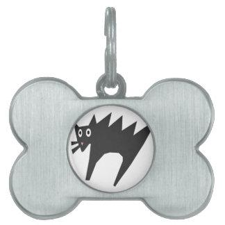 おびえさせていた猫の漫画、ハロウィン ペットネームタグ