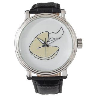 おみくじ入りクッキーの漫画の腕時計 腕時計