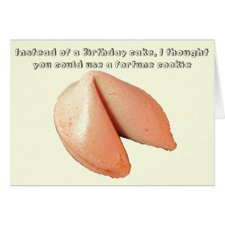 おみくじ入りクッキー対お誕生日ケーキ カード