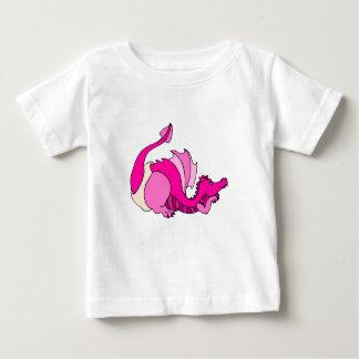 おむつのかわいいベビーのドラゴン ベビーTシャツ