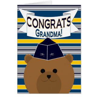 おめでとう-空軍将校-祖母 カード