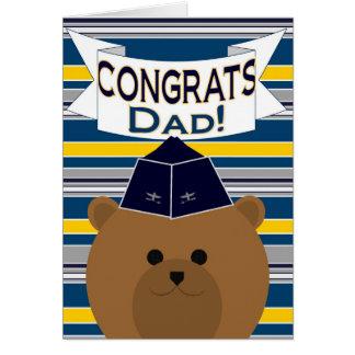 おめでとう-空軍-パパ/父 カード