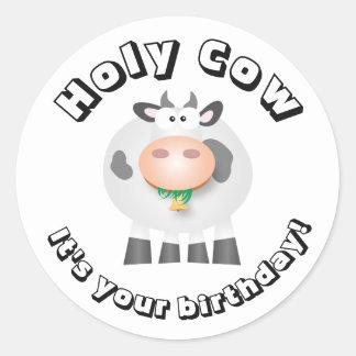 おもしろいうわーそれはあなたの誕生日です 丸形シールステッカー
