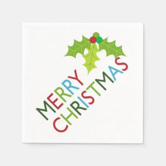 おもしろいおよびお祝いのメリークリスマスの紙ナプキン スタンダードカクテルナプキン