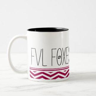 おもしろいおよびカスタマイズ可能なFVLのキツネシェブロン ツートーンマグカップ