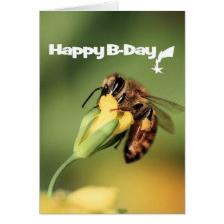 おもしろいおよびクールな庭の蜂蜜の蜂のハッピーバースデー カード
