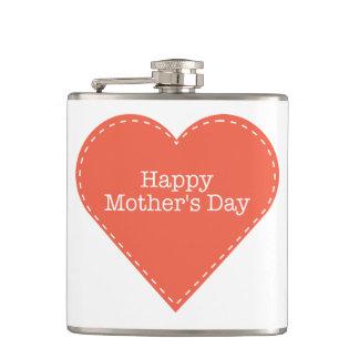 おもしろいおよびシンプルで幸せな母の日のハート フラスク