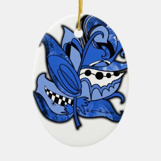 おもしろいおよびファンキーな羽シリーズ青い落書き セラミックオーナメント