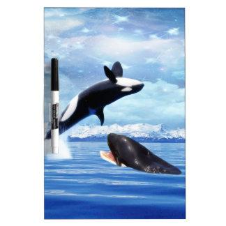 おもしろいおよび演劇の夢みるようなクジラ ホワイトボード