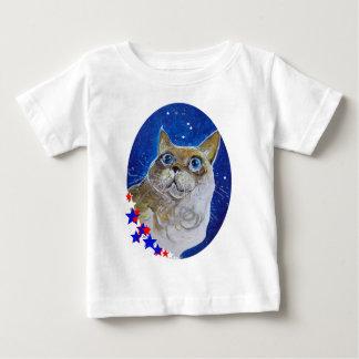 おもしろいおよび粋な猫のポートレート ベビーTシャツ