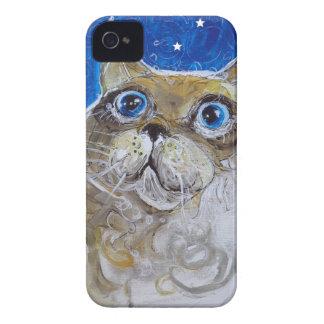 おもしろいおよび粋な猫のポートレート Case-Mate iPhone 4 ケース