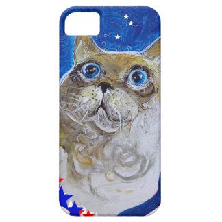 おもしろいおよび粋な猫のポートレート iPhone SE/5/5s ケース