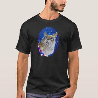 おもしろいおよび粋な猫のポートレート Tシャツ